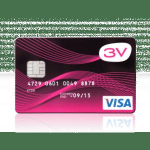 3v Visa prepaid creditcard