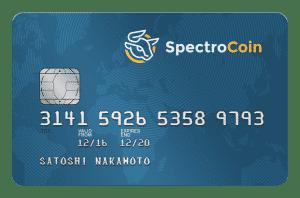 spectrocoin debit card blauw
